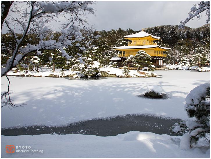 金閣寺 雪